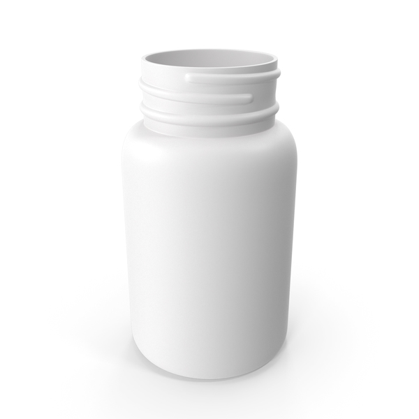 Plastic Bottle Pharma Round 75ml No Cap PNG & PSD Images