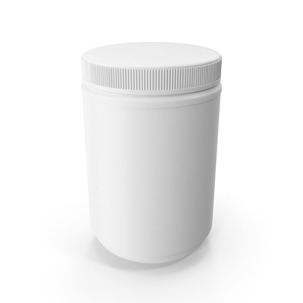 Plastic Bottle White Supplement PNG & PSD Images