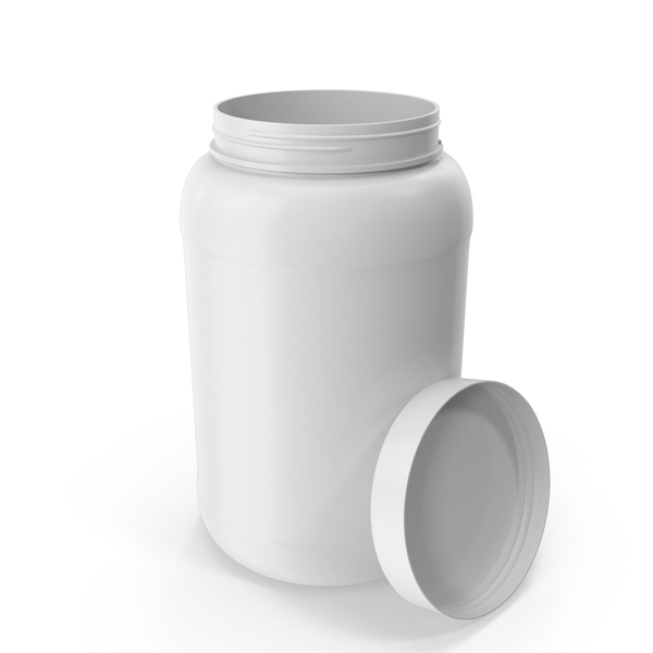 Plastic Bottle Wide Mouth 1.5 Gallon White Open PNG & PSD Images