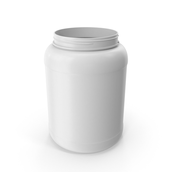 Plastic Bottle Wide Mouth 1.8 Gallon White Without Lid PNG & PSD Images
