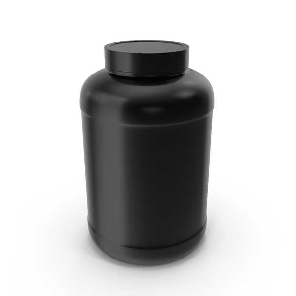 Plastic Bottle Wide Mouth Gallon Black PNG & PSD Images