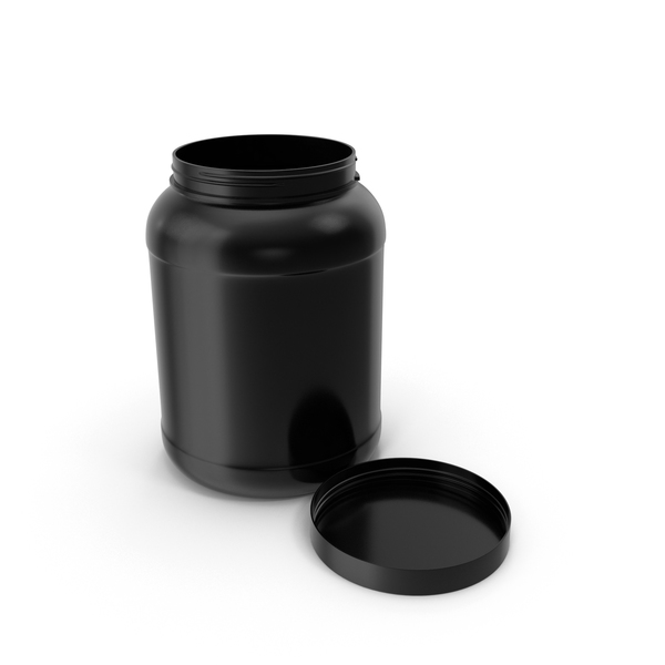 Plastic Bottle Wide Mouth Gallon Black Open PNG & PSD Images
