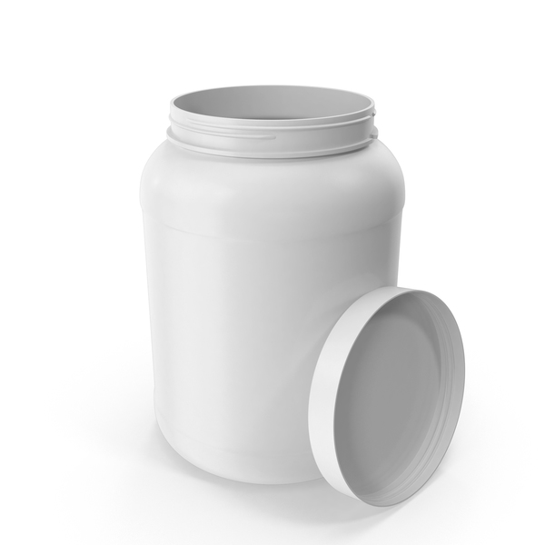 Plastic Bottle Wide Mouth Gallon White Open PNG & PSD Images