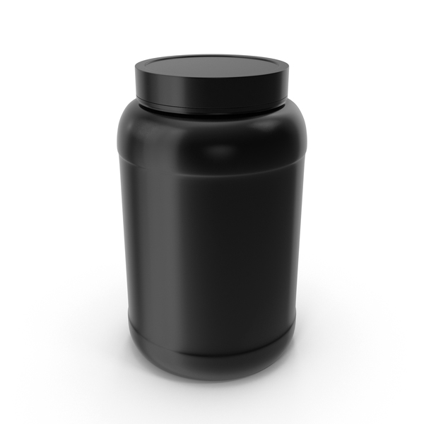 Food Tin: Plastic Bottles Wide Mouth 1.5 Gallon Black PNG & PSD Images