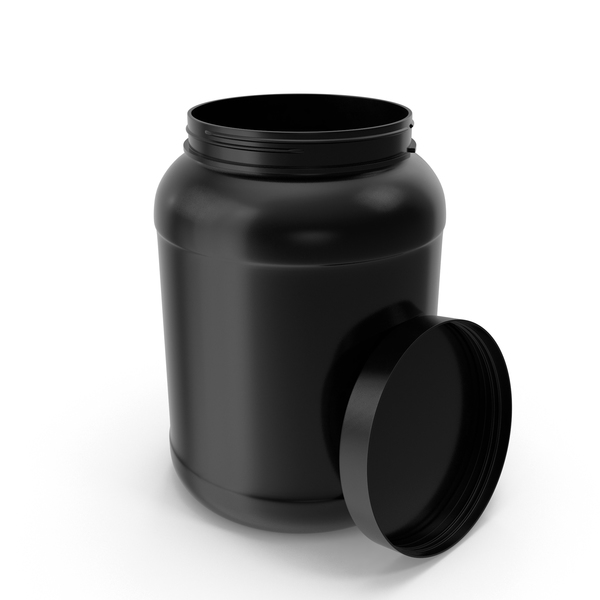 Plastic Bottles Wide Mouth 2 Gallon Black Open PNG & PSD Images