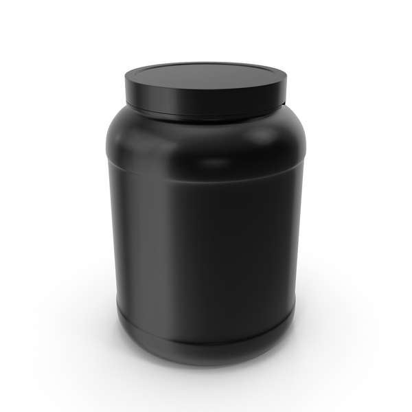 Food Tin: Plastic Bottles Wide Mouth Gallon Black PNG & PSD Images
