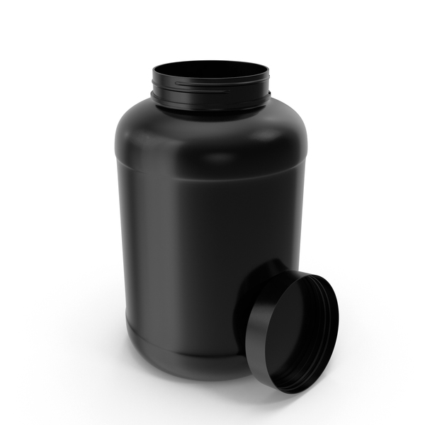 Supplement: Plastic Bottles Wide Mouth Gallon Black Open PNG & PSD Images