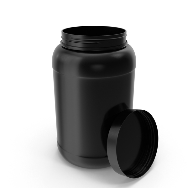 Plastic Bottles Wide Mouth Gallon Black Open PNG & PSD Images