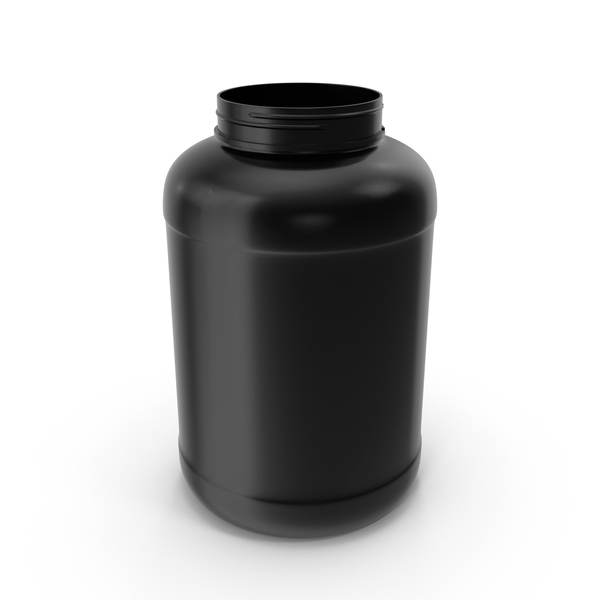 Supplement: Plastic Bottles Wide Mouth Gallon Black PNG & PSD Images