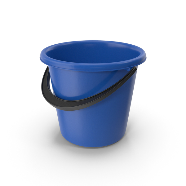 Plastic Bucket Blue PNG & PSD Images