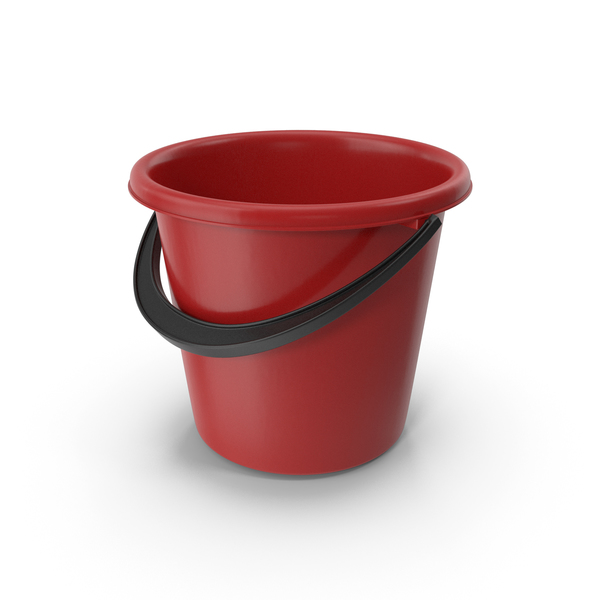 Plastic Bucket Red PNG & PSD Images