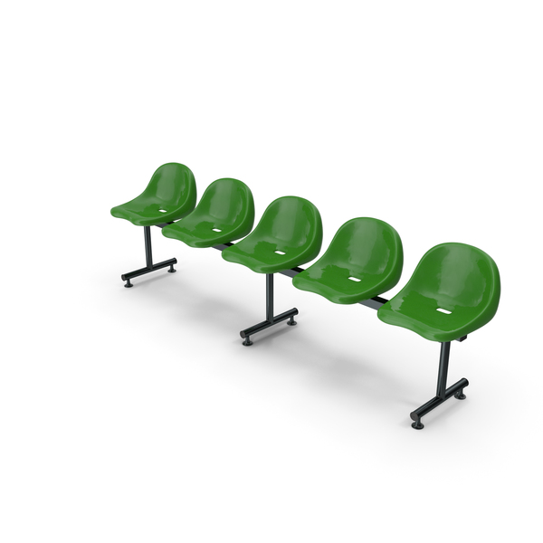 Bench: Plastic Chairs Row PNG & PSD Images