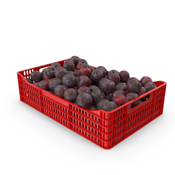 Plastic Crate of Plums PNG & PSD Images