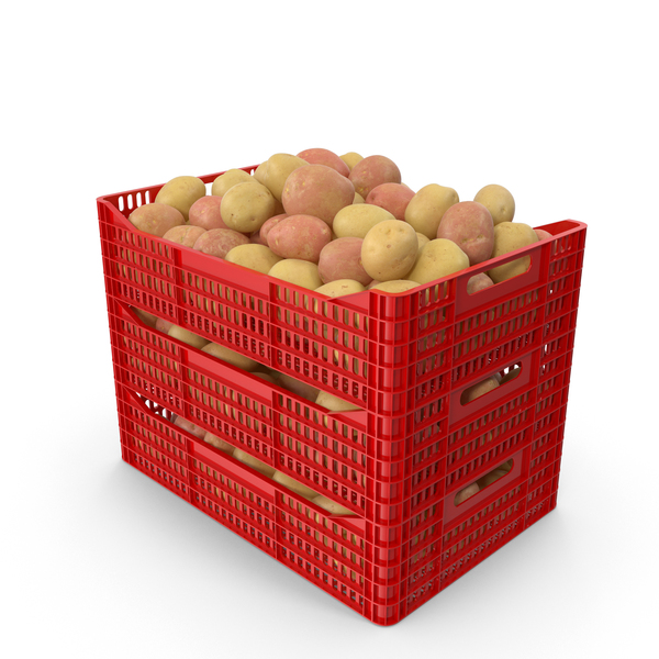 Plastic Crate of Potatoes PNG & PSD Images