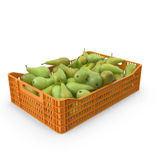 Plastic Crate With Pears PNG & PSD Images