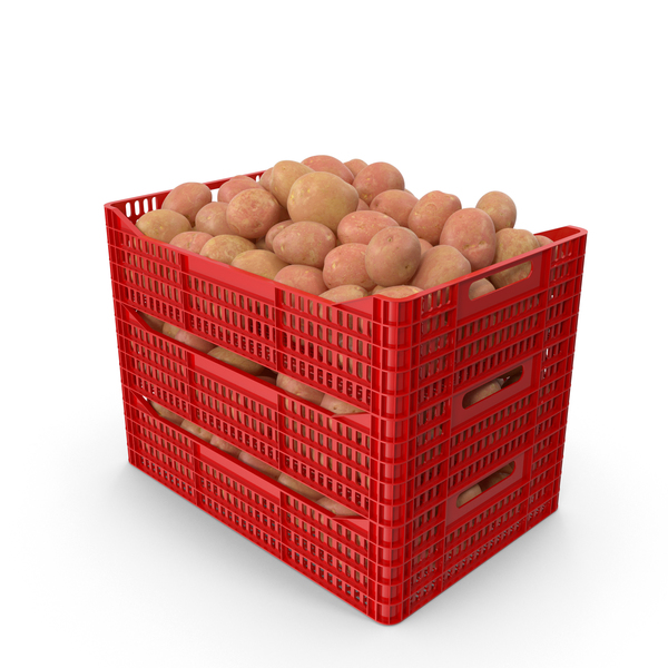 Plastic Crates of Red Potatoes PNG & PSD Images