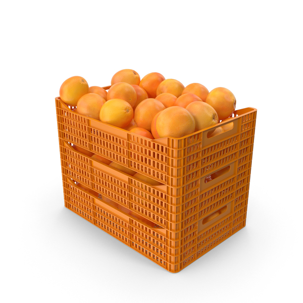 Grape: Plastic Crates with Grapefruits PNG & PSD Images