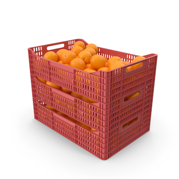 Plastic crates with oranges PNG & PSD Images