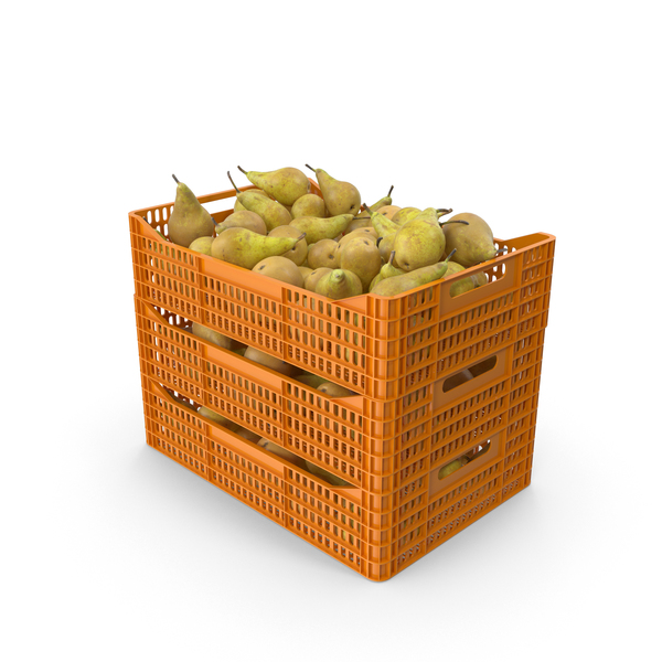Plastic Crates with Pears Conference PNG & PSD Images