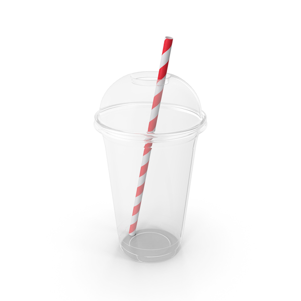 Plastic Cup and Straw PNG & PSD Images