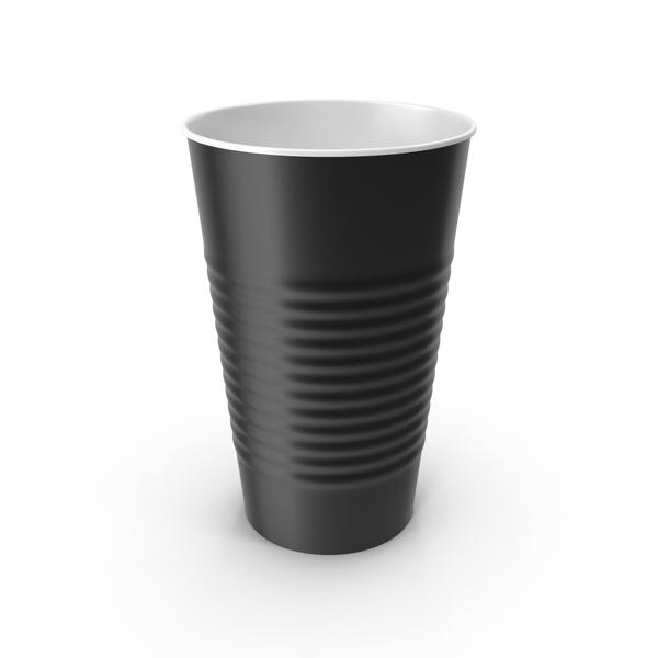 Plastic Cup Black PNG & PSD Images