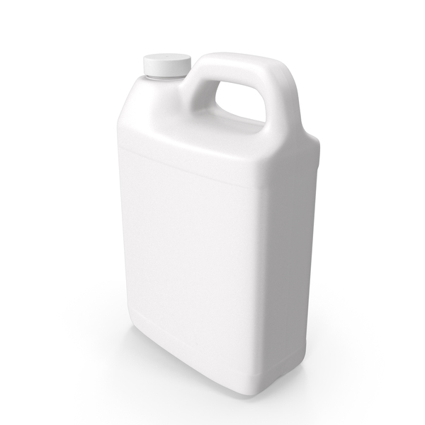 Plastic F Style Bottle 1Gallon With Smooth Plastic Cap PNG & PSD Images