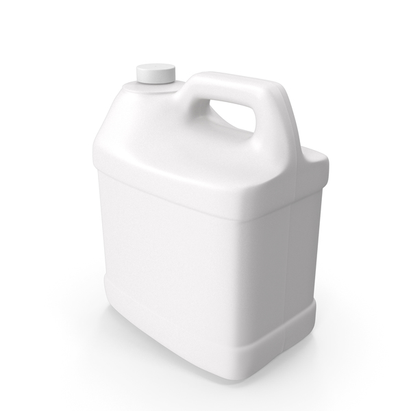Jug: Plastic F Style Bottle 2 Gallon With Smooth Plastic Cap PNG & PSD Images