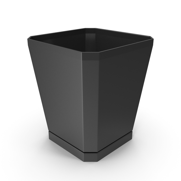 Plastic Flower Pot Black PNG & PSD Images