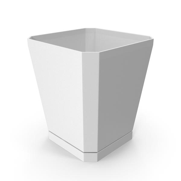 Plastic Flower Pot White PNG & PSD Images