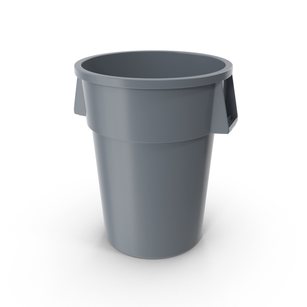 Plastic Garbage Can Object
