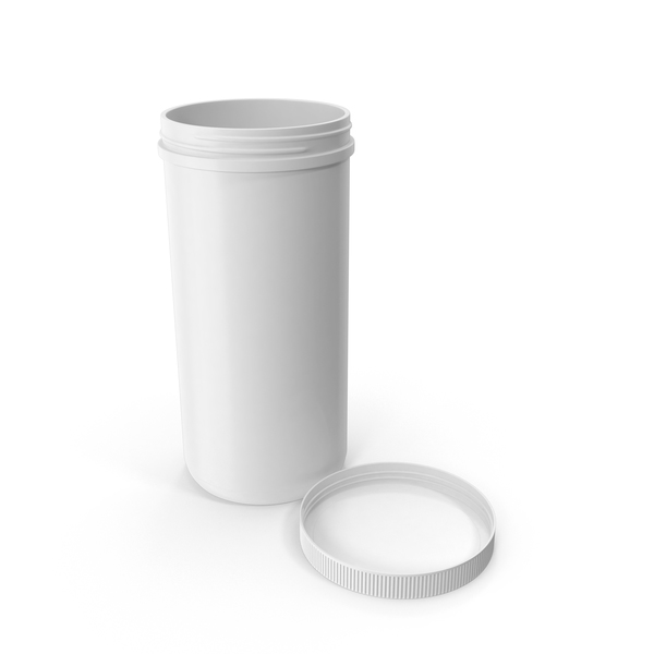 Plastic Jar Wide Mouth Straight Sided 100oz Cap Laying White PNG & PSD Images