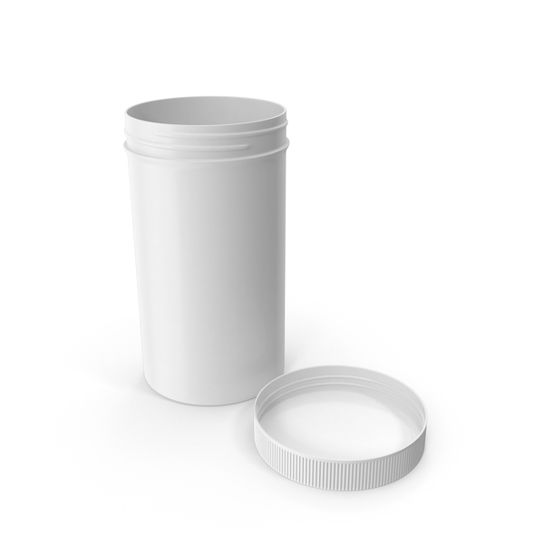 Plastic Jar Wide Mouth Straight Sided Tall 32oz Cap Laying White PNG & PSD Images