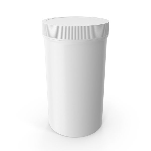 Plastic Jar Wide Mouth Straight Sided Tall 32oz Closed White PNG & PSD Images