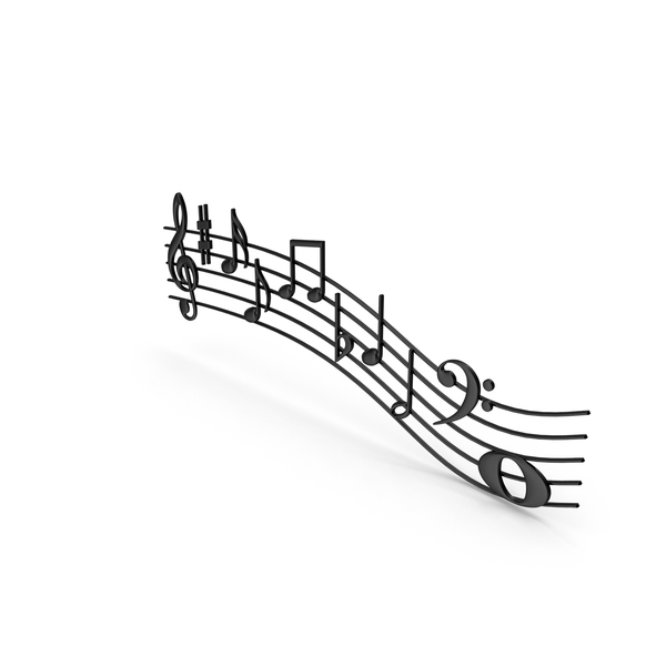 Plastic Music Notes Waves PNG & PSD Images
