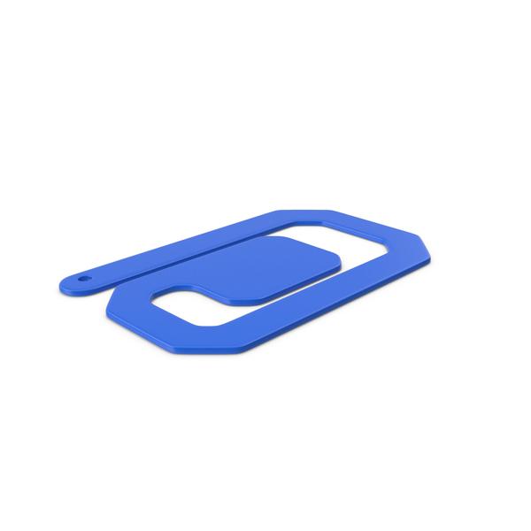 Plastic Paper Clips Blue PNG & PSD Images