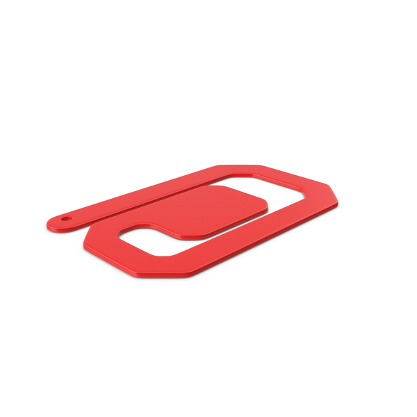 Plastic Paper Clips Red PNG & PSD Images