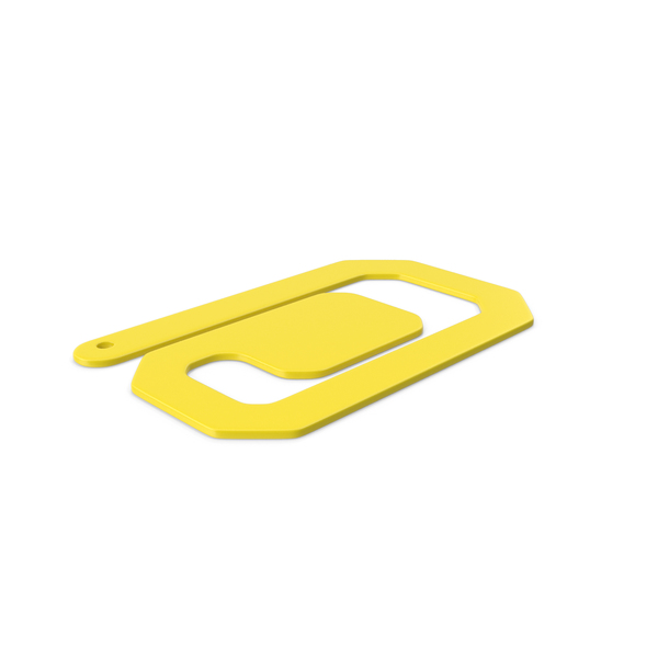 Plastic Paper Clips Yellow PNG & PSD Images
