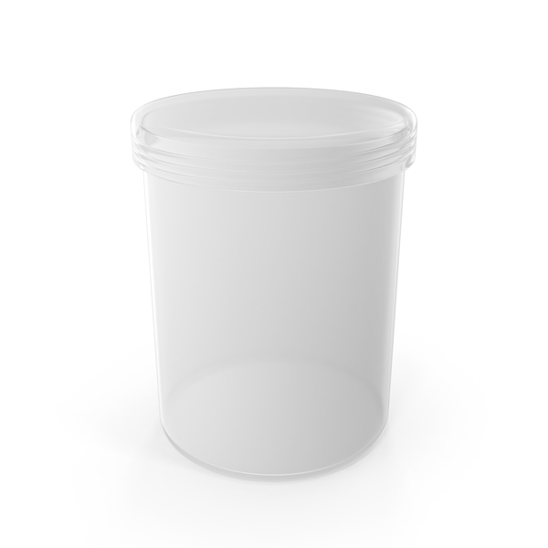 Plastic Round Box with Cap PNG & PSD Images