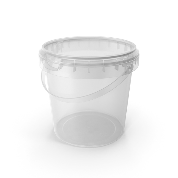 Plastic round bucket 600ml PNG & PSD Images