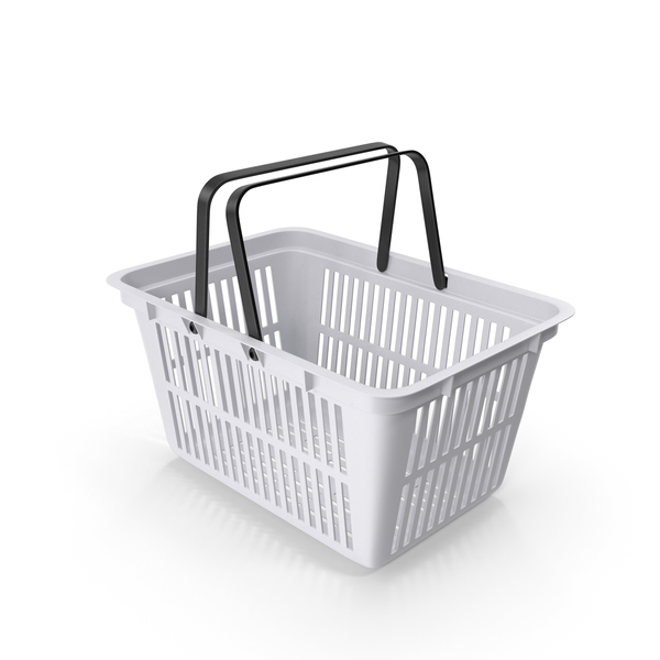 Plastic Shopping Basket PNG & PSD Images