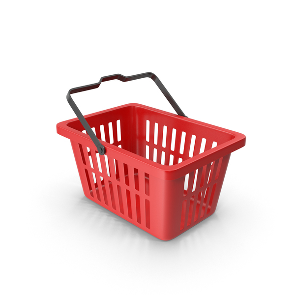 Plastic Shopping Basket Red PNG & PSD Images