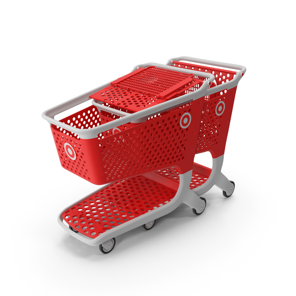 Cart: Plastic Shopping Carts Row of 2 PNG & PSD Images
