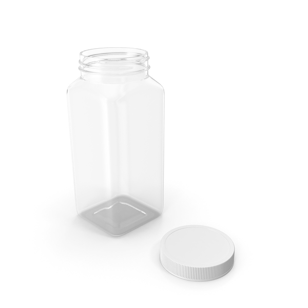 Plastic Square Bottle 16oz 480ml Open PNG & PSD Images