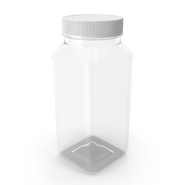 Plastic Square Bottle 8oz 240ml Closed PNG & PSD Images