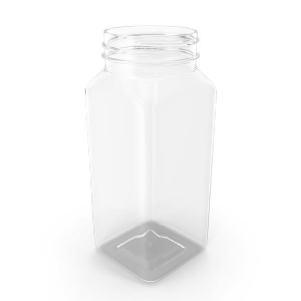 Plastic Square Bottle 8oz 240ml No Cap PNG & PSD Images