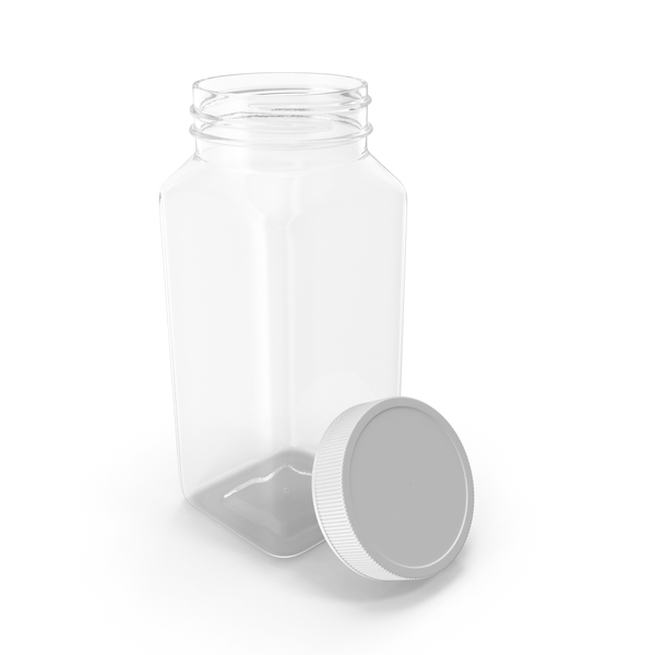 Plastic Square Bottle 8oz 240ml Open PNG & PSD Images