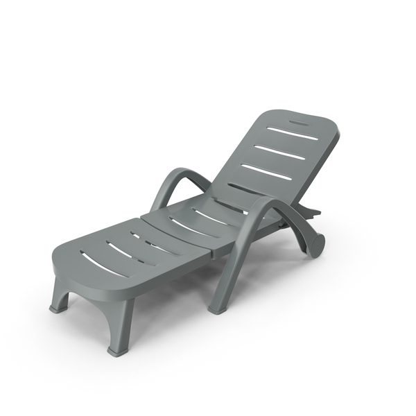 Plastic Sunlounger Grey PNG & PSD Images