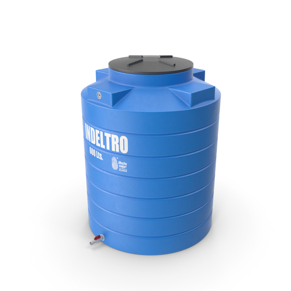 Plastic Water Storage Tank 600L PNG & PSD Images