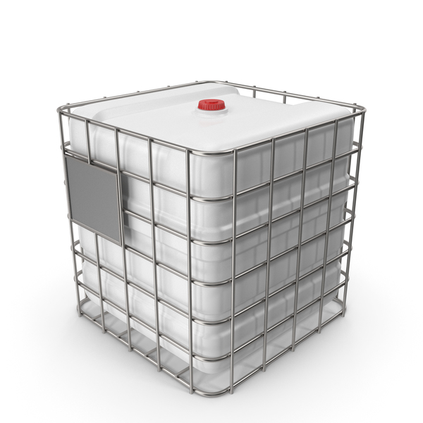 Plastic Water Tank In Cage White PNG & PSD Images