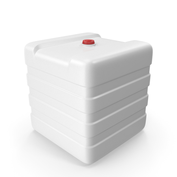 Potable Truck: Plastic Water Tank White PNG & PSD Images